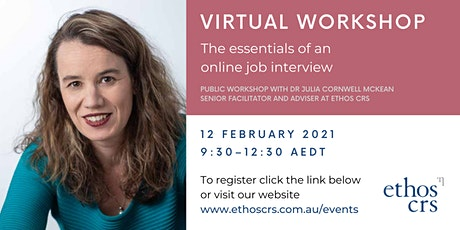 The essentials of an online job interview – February tickets