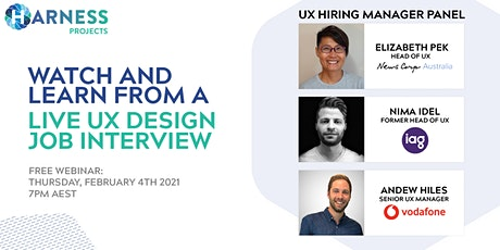 Watch and learn from a live UX Design job interview tickets