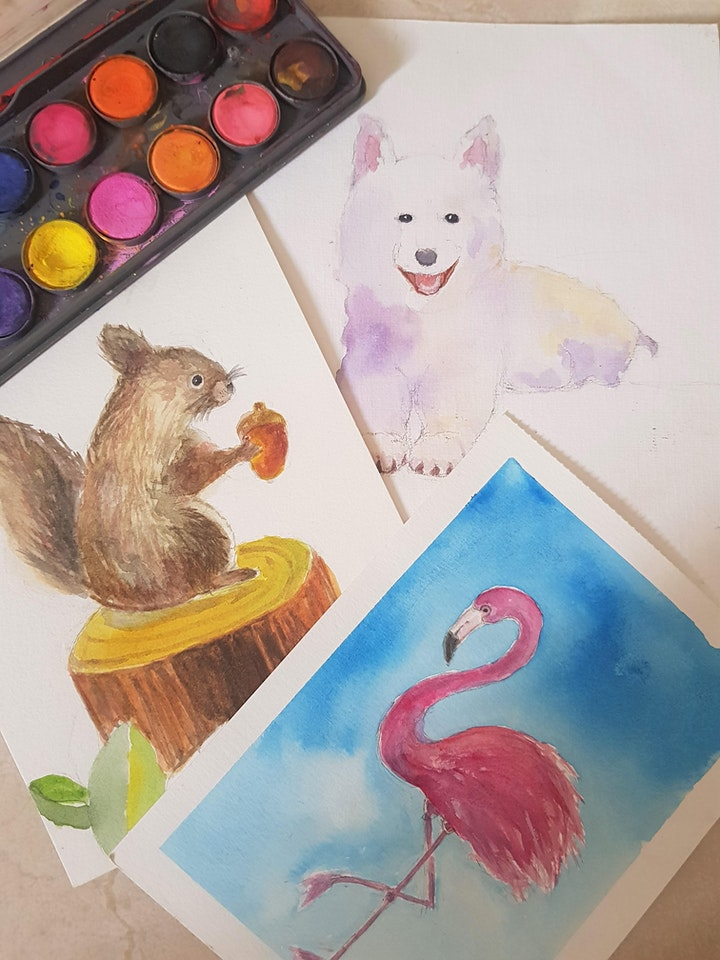 Watercolour Painting  Course - Beginners starts Nov 1 (8 sessions) image