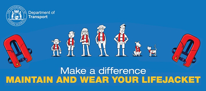 Make a Difference - Maintain and Wear your Lifejacket TWO ROCKS image