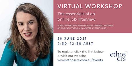 The essentials of an online job interview – June tickets