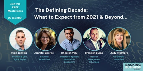 Innovation Crowd Masterclass - The Defining Decade - What to expect? tickets