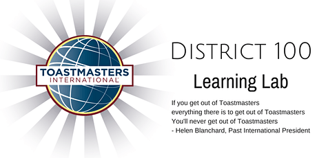 Toastmasters District 100  Learning Lab - February 7, 2021 tickets