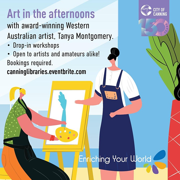 Art in the Afternoons - Free Workshops image