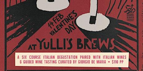 Valentines Italian Night @ Yulli's Brews tickets