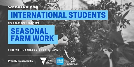 International Student and interested in picking up some seasonal farm work? tickets