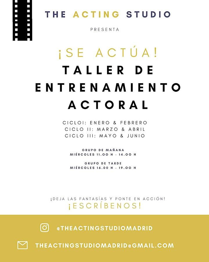 Imagen de SE ACTUA - Taller de entrenamiento actoral