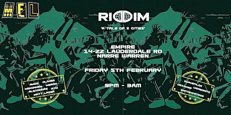 RIDDIM MEL: 'A Tale Of 2 Cities' tickets