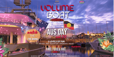 VOLUME BOAT PARTY AUS DAY VOL29, Hip Hop-Reggaeton - Afrobeat - House - R&B tickets