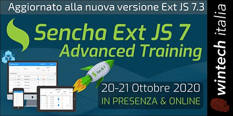 Sencha Ext JS 7 Advanced Training biglietti
