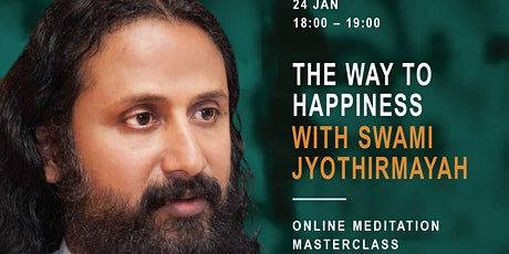 Online meditation masterclass with Swami Jyothirmayah tickets