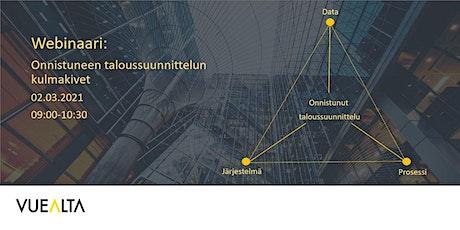 Onnistuneen taloussuunnittelun kulmakivet -webinaari tickets