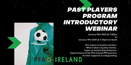 PFA Ireland Past Players Program Introductory Webinar tickets