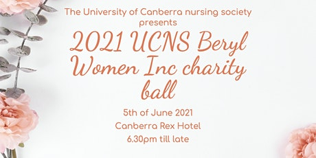 2021 UC Nursing society Beryl Women Inc charity ball tickets