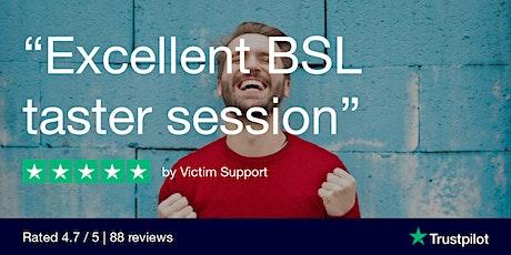 Remote BSL taster course (British Sign Language) tickets