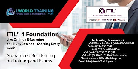 ITIL® Foundation Certification - Official Accredited Course tickets