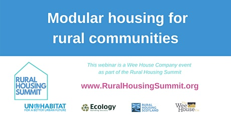 Modular housing for rural communities tickets