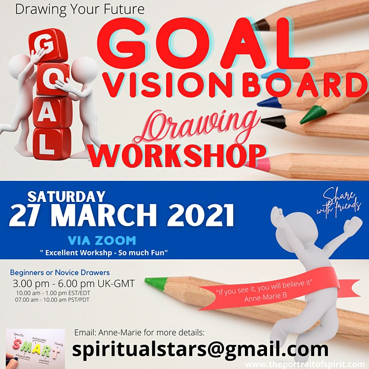 Goal Vision Board Drawing Art Workshop 2021 Zoom image