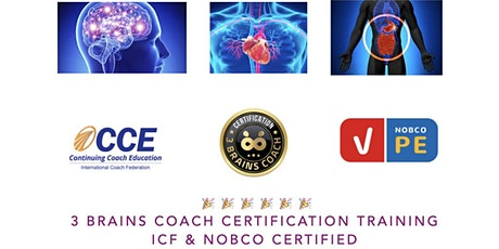 3 Brains (Head, Heart and Gut) Coach Certification ICF & NOCBO Accredited tickets