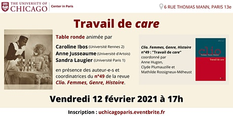 "Table ronde Clio n°49 : ""Travail de care"" billets"