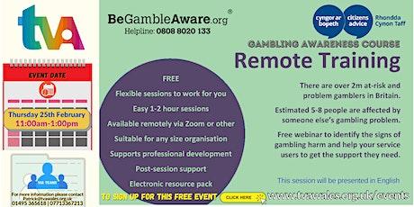 Gambling Harm Awareness Online Course tickets