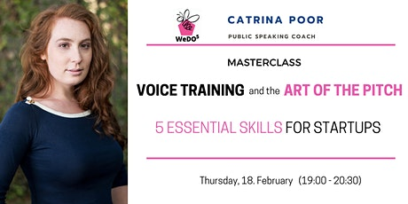 Voice training and the Art of the Pitch – 5 essential skills for  start-ups tickets