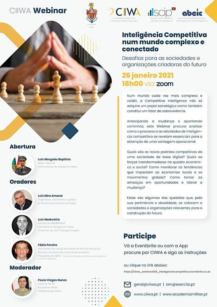 CIIWA Webinar  - Inteligência Competitiva num mundo complexo e conectado image