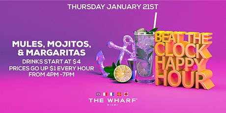 BEAT THE CLOCK Happy Hour, Thursdays at The Wharf Miami tickets
