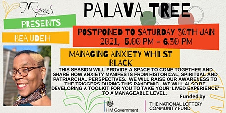 Palava Tree Webinar -Managing Anxiety  Whilst Black tickets