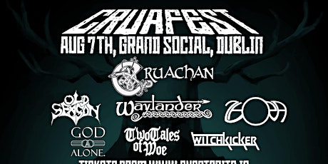 CRUAFEST - Cruachan, Waylander and many more tickets