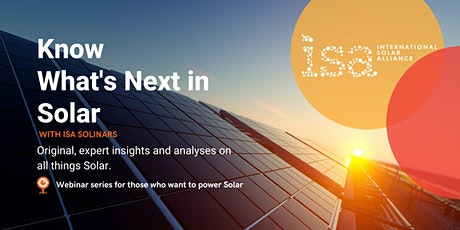 ISA-CEEW Webinar: Financing utility-scale renewables in emerging economies tickets