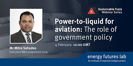 Webinar: Power-to-Liquid for Aviation | The Role of Government Policy tickets