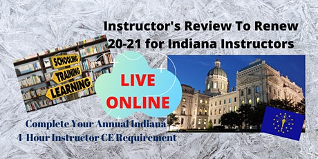 LIVE ONLINE! Indiana Real Estate Instructor 4Hr INST CE | Mar 4 tickets