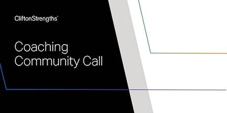 CliftonStrengths Coaching Community Call - Guest Marina Mamshina - #1 tickets