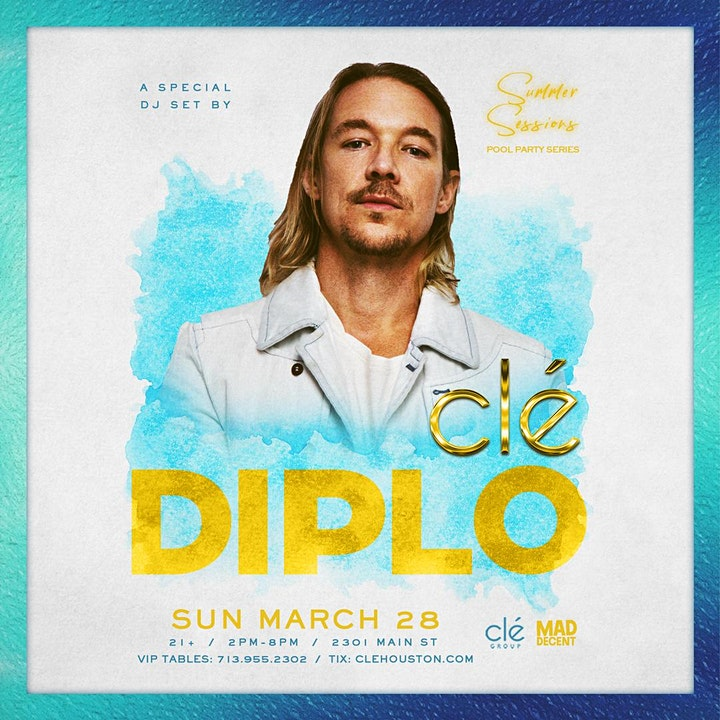 Diplo / Sunday March 28th / Clé Summer Sessions image