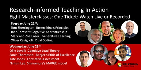 Research-Informed Teaching In Action: Eight Masterclasses tickets