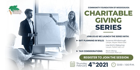 Community Foundation of Mississauga Charitable Giving Series tickets