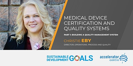 Building a Quality Management System for Medical Device Startups tickets
