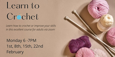 Learn to Crochet: 4 week course for beginners and improvers tickets