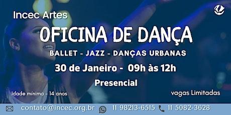 Oficina de Dança ingressos