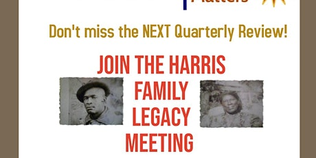 Family History Matters! -  Exploring The Harris Legacy Meeting tickets
