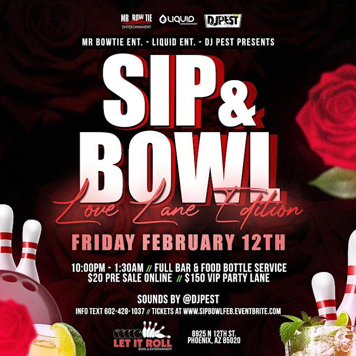Sip And Bowl AZ - Feb Lovers Lanes Edition image
