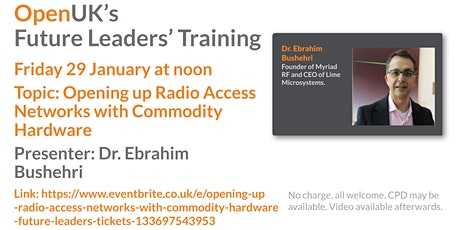 Opening up Radio Access Networks with Commodity Hardware - Future Leaders billets