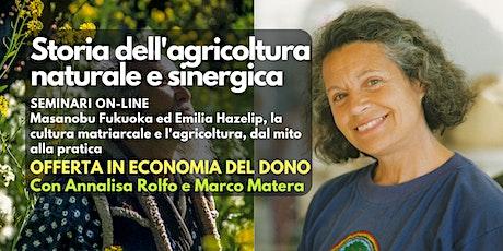 Seminario online: Storia dell'agricoltura naturale e sinergica tickets