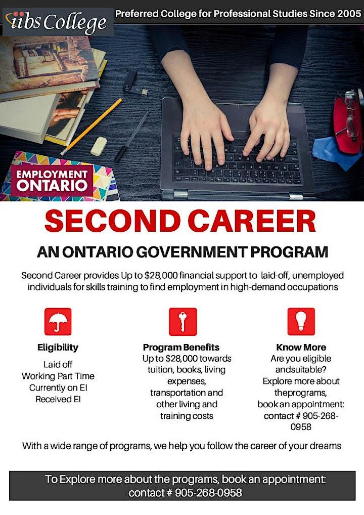 CONSIDER A SECOND CAREER – A Government of Ontario Program image