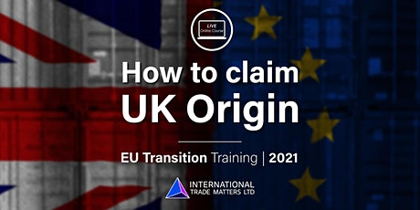 Relevant Rules of Origin - Online EU Transition Training tickets