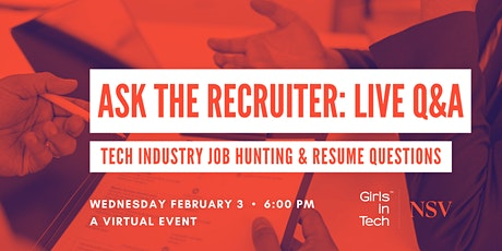 Girls in Tech Nashville presents: Ask the Recruiter // Live Q/A tickets