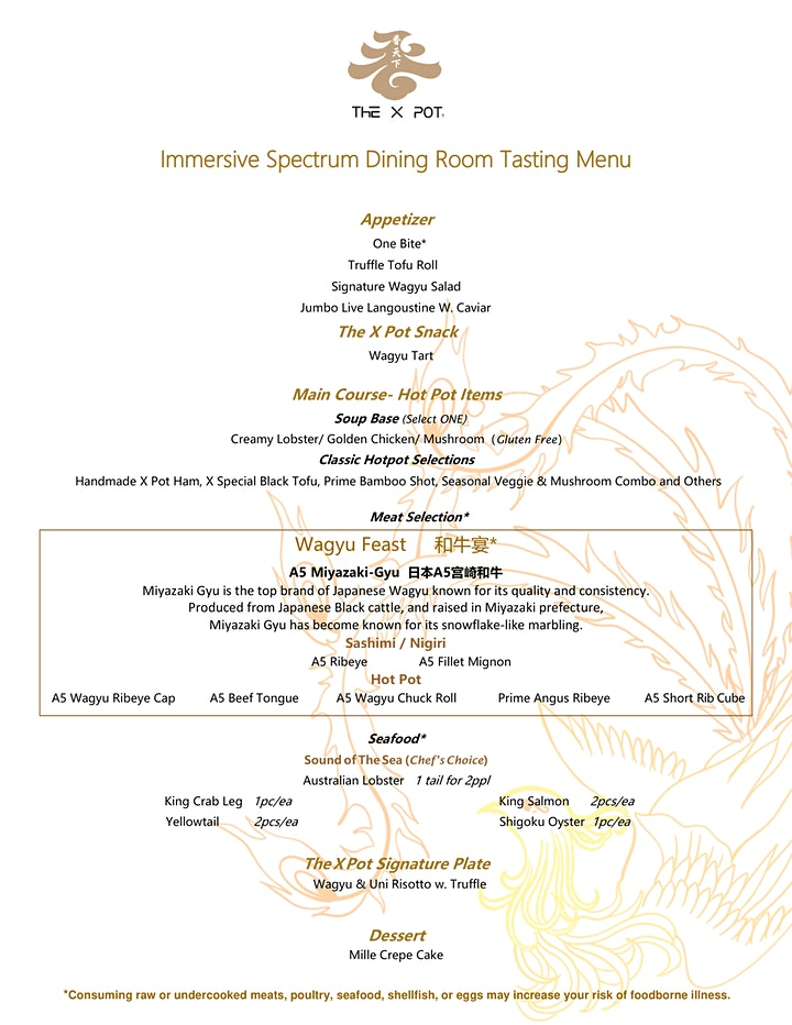 CNY Spectrum Room Dining Experience at The X Pot with  Dom Pérignon. image