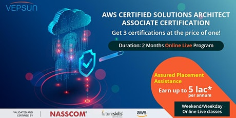 AWS Certified Solutions Architect Associate Training & Certification tickets