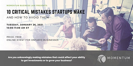 10 Critical Mistakes Startups Make and How To Avoid Them tickets